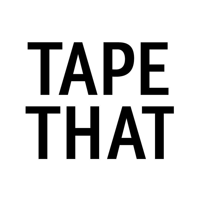 Logo weiß mit balken tapeart tapethat tape art