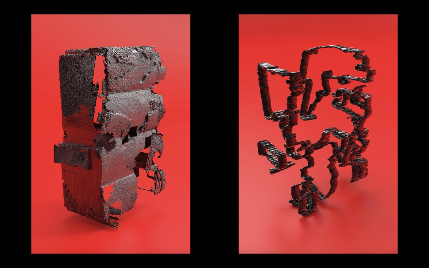 3D scale on red background by Lucas Gutierrez